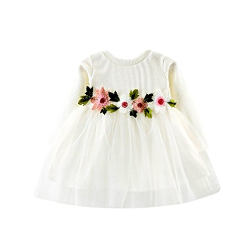 Familizo vestido para bebé niña, tutú, estampado Floral, Manga Larga, Vestido de...