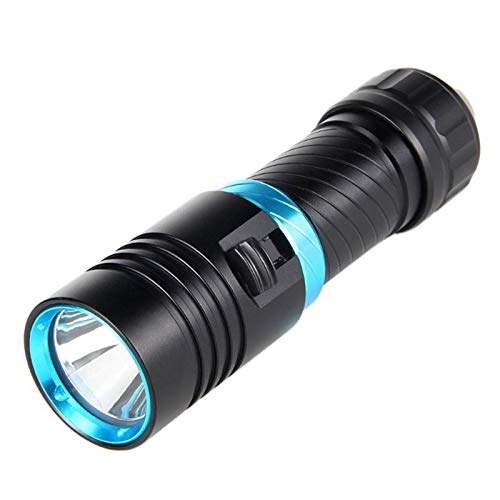 EPMEA0 1 UNID Portátil LED Linterna Linterna Profesional Profesional Antorcha eléctrica bajo el Agua Linterna de Buceo a Prueba de Agua para Actividades al Aire Libre (Emitting Color : Black)