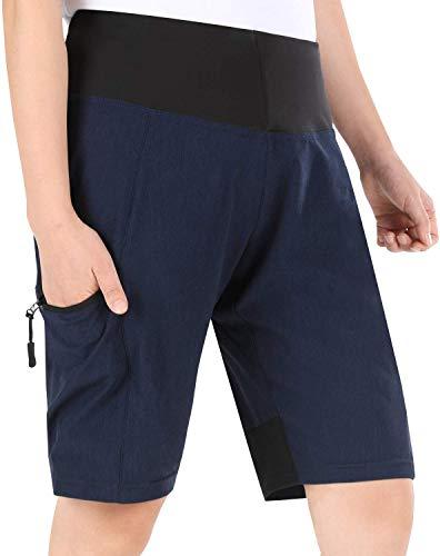 Cycorld MTB Hose Damen Radhose, Schnelltrocknend Mountainbike Hose mit Innenhose und hochwertigem Sitzpolster, Atmungsaktiv MTB Shorts Fahrradhose Damen Outdoor Bike Shorts (XL, Neueste-Blau)