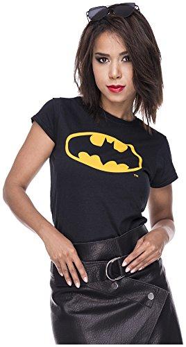 Tshirt Batman Damen Shirt Symbol Fledermaus T-Shirt Comic Superhelden Comics Halloween Kostüm Karnevalskostüme Karneval Fasching L