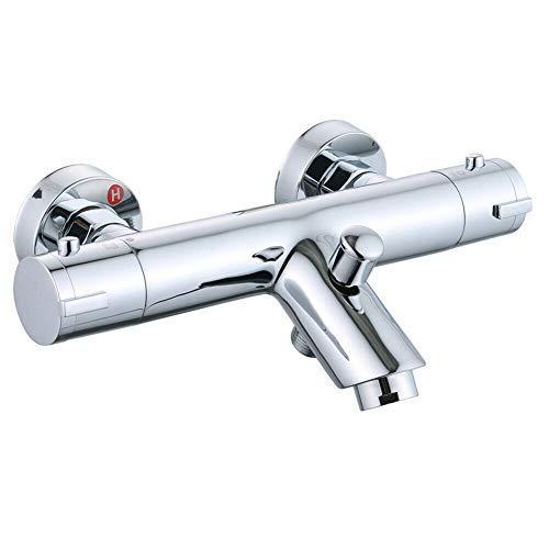 Wannenarmatur Badewanne Thermostat Badewannenarmatur Armaturen Wasserhahn Badarmatur Chrom Fit für 1/2