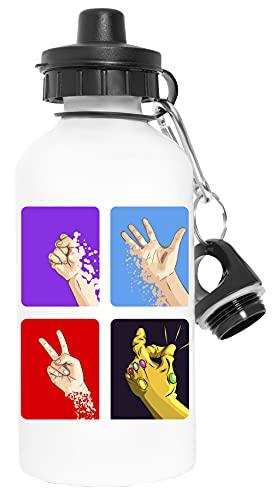 rock, papel, tijeras, ¡¡¡CHASQUIDO!!! - Bosslogic Deporte Viaje Blanco Botella De Agua Metal Prueba de Fugas Sport Travel White Water Bottle Leak-Proof