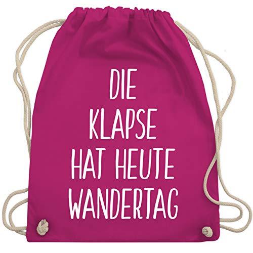 Shirtracer Festival Turnbeutel - Die Klapse hat heute Wandertag - Unisize - Fuchsia - rucksack mit lustigen spruch - WM110 - Turnbeutel und Stoffbeutel aus Baumwolle