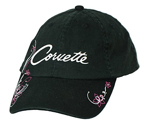 Johny Rockstar Clothing Womens Chevy Corvette Hat - Black