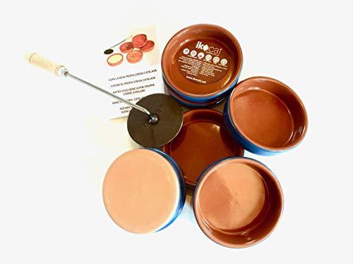 Ikocat® Service pour Faire des Crème Brulées, Crème Catalane 7 Pièces