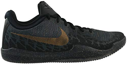 Nike Men's Mamba Rage Basketball Shoes Black/Metallic Gold/Anthracite Size 8.5 M US