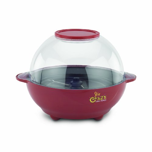 Best Bargain Back to Basics PC17583 Stir Crazy 6-Quart Electric Popcorn Popper, Red (Discontinued by...