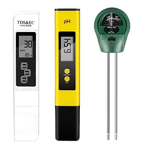 PH Meter, TDS PPM Meter, Soild PH Tester[2021 Upgraded...