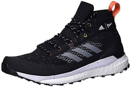 adidas mens Terrex Free Hiker Parley Hiking Boot Black/Grey/blue spirit 9.5 M US