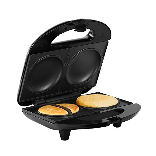 Holstein Housewares HH-0937013SS Fun Non-Stick Arepa and Empanada Maker, 9 x 4 x 9 inches, Stainless Steel