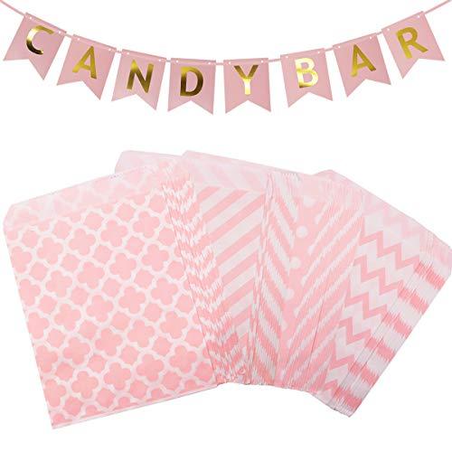 U&X Candy bar zubehör papiertüten tüten 100 Stück und Candy bar Papier Banner Dekoration