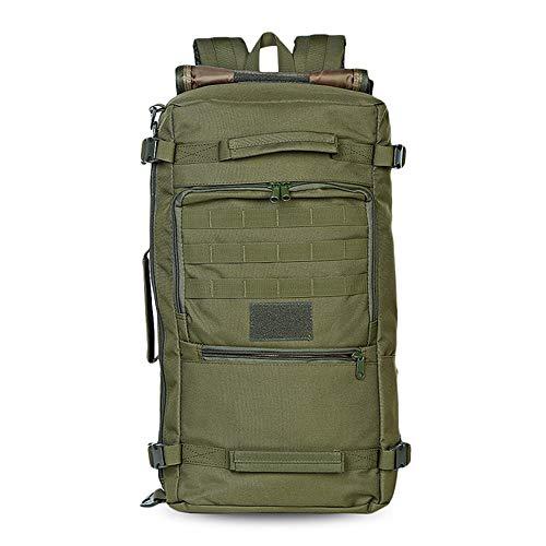 zaino 60 litri militare Greenpromise 60L Militare Tactical Bag Caccia Campeggio Computer Portatile Molle Zaino Oxford Nylon Impermeabile Militare Zaino Sport Bag per Outdoor (Verde militare)