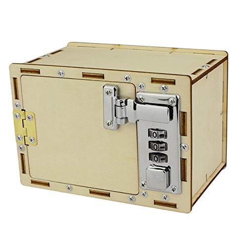 T TOOYFUL 1pc Caja de Bloqueo Mecánico de Madera Rompecabezas de Juguete Aprendizaje Educativo para Estudiantes