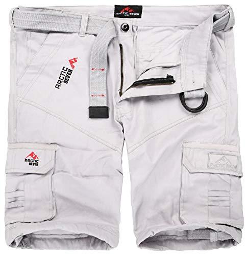 Arctic Seven Pantalones cortos para hombre, incluye cinturón a juego, AS-129