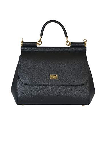 DOLCE E GABBANA Luxury Fashion Damen BB6002A100180999 Schwarz Leder Handtaschen | Herbst Winter 20