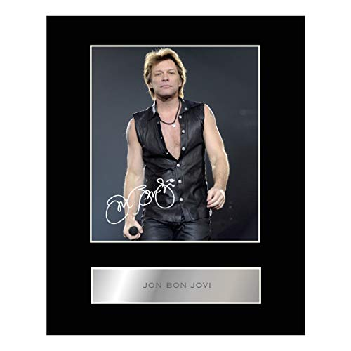 Jon Bon Jovi Signed Mounted Photo Display Autographed Gift Picture Print