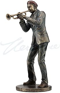 Veronese JAZZ BAND CASUAL TRUMPET PLAYER STATUE