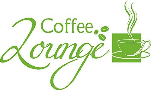 GRAZDesign Wandtattoo Küche Kaffee - Aufkleber für Küche Coffee Lounge - Küchendeko Dekorfolie Sprüche / 66x40cm / 063 lindgrün
