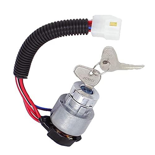 HUALIAN GUYINGQIU Interruptor de Encendido del Tractor Cerradura de Encendido Fit para KUBOTA L2800 Tractor C/W Serie TC020-31822 (Color : Black)