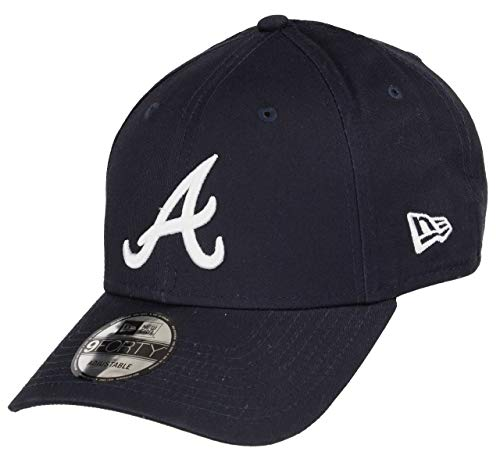 New Era Atlanta Braves 9forty Adjustable Cap MLB Rear Logo Navy/White - One-Size