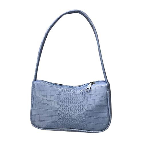 GLASSNOBLE Patrón de cocodrilo mujeres axilas bolso señoras pequeño hombro bolsos monedero, bolso de hombro - azul