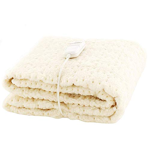 Monogram Heated Bedding, White, Double Single