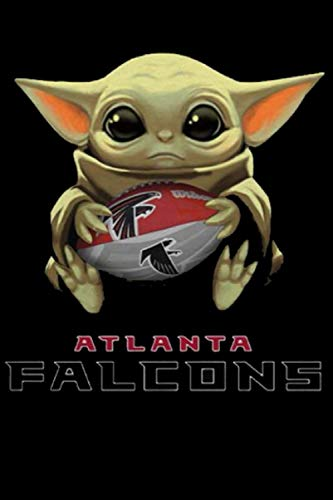 Baby Yoda hug Atlanta Falcons Sport Notebook Weekly Planner Notebook Journal