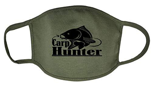 Darkwear Carp Fishing Carp Hunter Carp Father Fish Sports Fashion Mask Gr. One size, Carp Hunter Militär-FMW, Grün