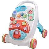 SONG Andador de Juguete Multifuncional para Educación Temprana, Caminante de Aprendizaje Sentado y de Pie 2 en 1, Antivuelco Antideslizante Fitness Baby Push Walker