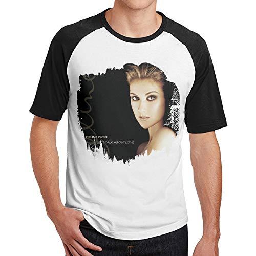 Celine Dion Let's Talk About Love Shirt Crewneck Short Sleeve T-Shirt Band for Mens Black M