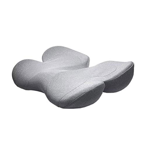 NCRD Hemorrhoid Cushion Pillow Memory Foam Luxury Seat for Hemroid Prostate Bed Sores Coccyx Postpartum Pregnancy Perineal Sciatica Hemmoroid Pain Pressure Relief (Color : Gray)