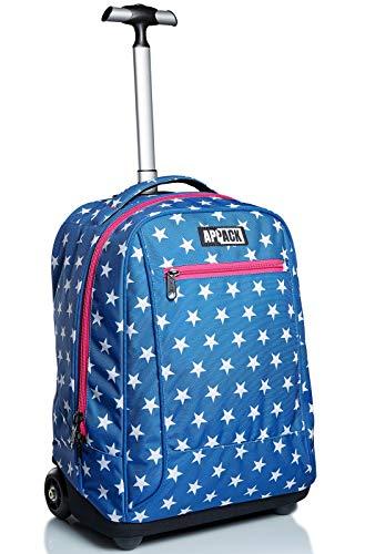 Big Trolley Appack, Webkins, Blu, 2 in 1 Spallacci per uso Zaino, Scuola & Viaggio