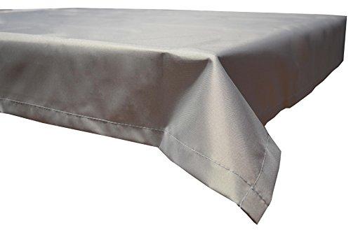 beo Table d'extérieur Plafond rectangulaire imperméable, 110 x 140 cm, Gris Clair