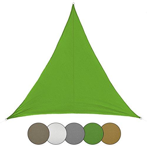 BB Sport Sonnensegel 2.5m x 2.5m x 3.5m Smaragd Dreieckig Sonnenschutz 100{a2e8cb01bc9d5146a3b6ed7f6b1bbd3199c2dcd98f14cd3837a324906f954a6d} PES Sichtschutz Windschutz Tarp UV Schutz Garten Terrasse Camping Schattenspender
