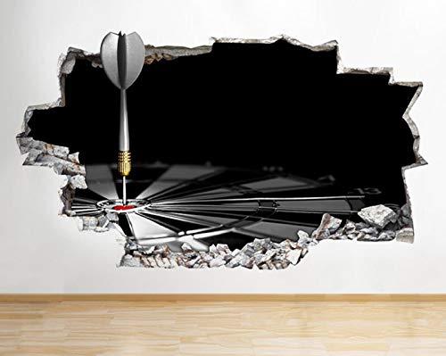 Q727 Darts Mancave Spiel Schlafzimmer Zertrümmerte Wandtattoo 3D Kunst Aufkleber Vinyl RoomMedium