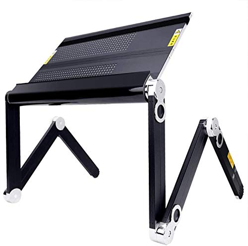 Laptop desk bracket adjustable laptop Folding Laptop Desk, Lazy Lifting Desk Computer Desk Portable Bed Simple Aluminum Alloy Multifunctional Posture Compatible With 16-inch For Home-Working, Reading,