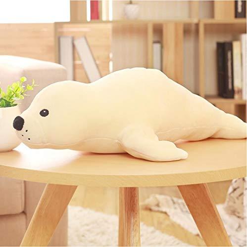Mooie Zeedieren Seal Knuffel, Gevulde Pluche Zeehond Poppen, Zacht Kussen Kids Toy, Verjaardagscadeau 50Cm (Wit)