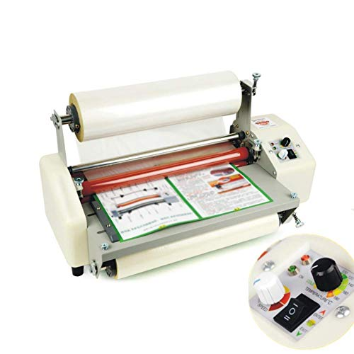 HJJGRASS Máquina laminadora automática 0-2m/min de Velocidad de Funcionamiento Laminador térmico automático con función de Laminado Simple y Doble para Papel/PVC/Vidrio,A2+