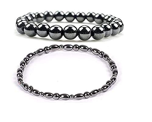 1 Pack Magnetic Therapy Anklet + 1 Pack Bracelet for Women Magnetic Bracelets for Arthritis Magnets for Anxiety Relief for trengthen Immunity