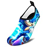 Pimalico Blue Hed-gehog So-nic Swim Shoes Quick-Dry Barefoot Water Shoes Summer Sport Beach Shoes Swim Surf Boys Girls 8.5-9.5 Toddler