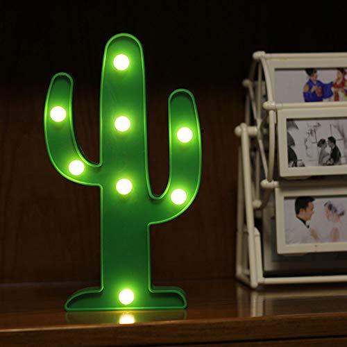 Neon Night Cactus Lumière En Forme De Lampe Verte Batterie Alimenté Pas De Chaleur Suspendue Pour Le Signe De Mariage, Décoration Murale, Fête D'anniversaire, Camping, Salle Des Enfants, Salon, Chambre À Coucher (Cactus Vert)