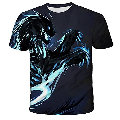 ZHUOYU T-shirt unisex 3D, motivo vivace e interessante, maglietta 3D, a maniche corte casual, scollo rotondo, colori brillanti, XXS-6XL, c, 6XL
