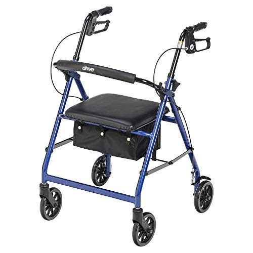 Drive Medical Rollator Walker is our top choice when it comes to the light weight rollator walkers with seat