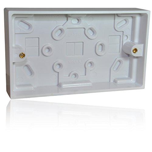 - Achterzijde/inbouwdoos apparatendoos box voor RJ45/HDMI/SVGA frontplaat, of 230 V 2-traps stekker