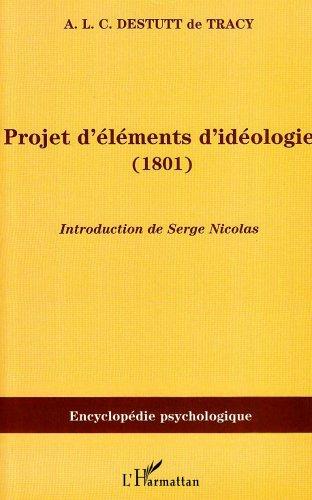 Projets d'éléments d'idéologie (1801)