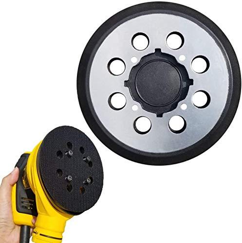 "Abrasive Tools 5 Inch 8 Hole Replacement Sander Pads 5"" Hook And Loop Sanding Backing Plates for Dewalt54 Dwe6423/6423K Dwe6421/6421K Dcw210B - (4Pcs)"