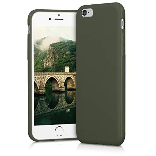 kwmobile Cover Compatibile con Apple iPhone 6   6S - Cover Custodia in Silicone TPU - Backcover Protezione Posteriore - Verde Oliva Opaco