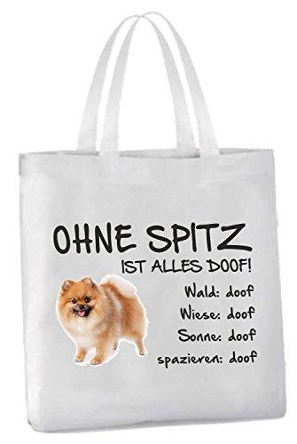 AdriLeo Einkaufstasche Ohne Spitz ist Alles doof!