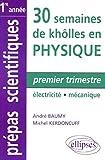 Premier trimestre - Électricité - Mécanique