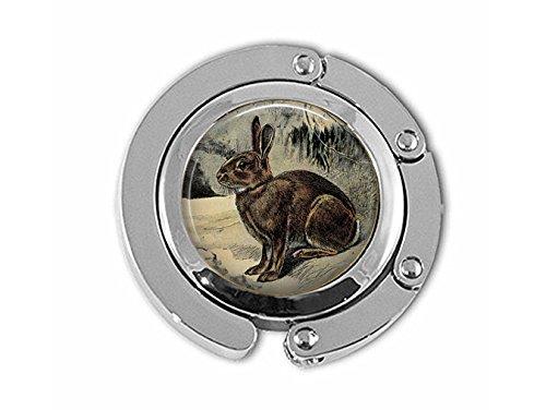Qws antike braune Kaninchen Deutsche Lithografie von P. Mahler – Brauner Hasenaufhänger – Naturschmuck – Geschenk für Kaninchenliebhaber